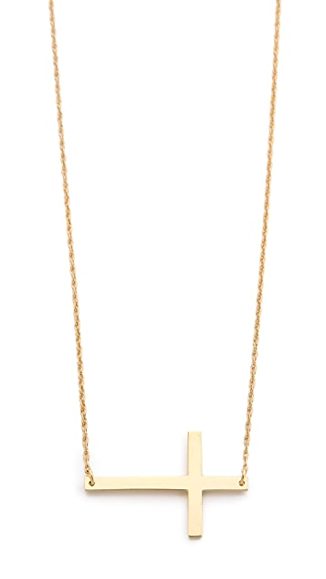 Jennifer Zeuner Jewelry Horizontal Cross Necklace