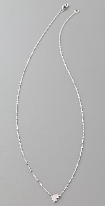 Jennifer Zeuner Jewelry Small Horizontal Heart Necklace