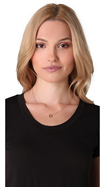 Jennifer Zeuner Jewelry Open Star of David Necklace