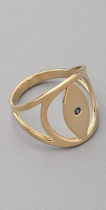 Jennifer Zeuner Jewelry Evil Eye Sapphire Ring