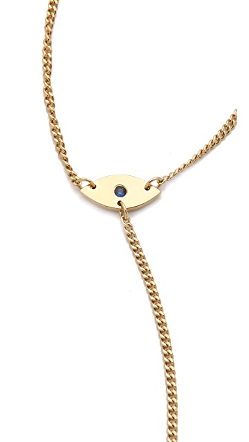 Jennifer Zeuner Jewelry Mini Eye & Hamsa Necklace