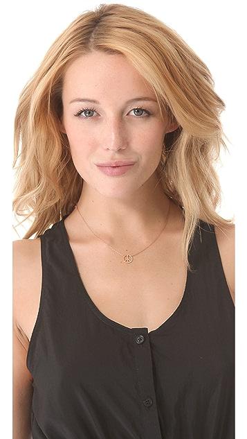 Jennifer Zeuner Jewelry Peace Sign Necklace