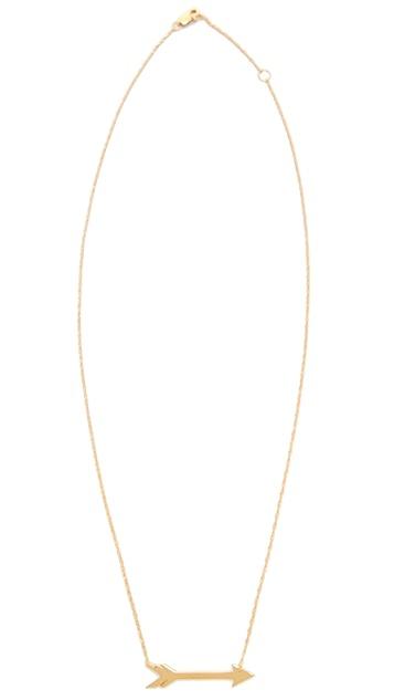 Jennifer Zeuner Jewelry Horizontal Arrow Necklace