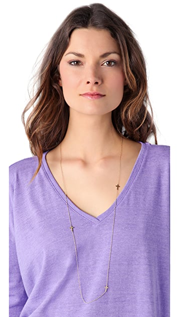 Jennifer Zeuner Jewelry Baby Cross Necklace