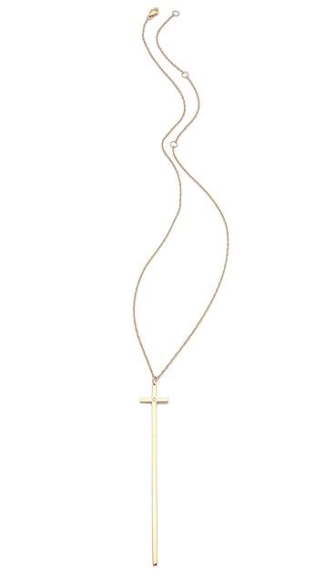 Jennifer Zeuner Jewelry Long Diamond Cross Necklace