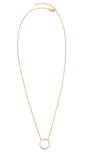 Jennifer Zeuner Jewelry Small Open Circle Necklace