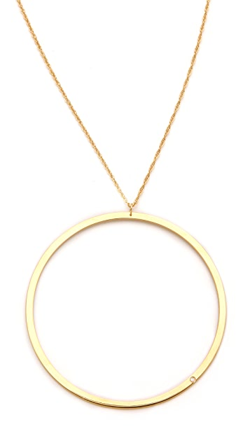 Jennifer Zeuner Jewelry Circle Diamond Necklace