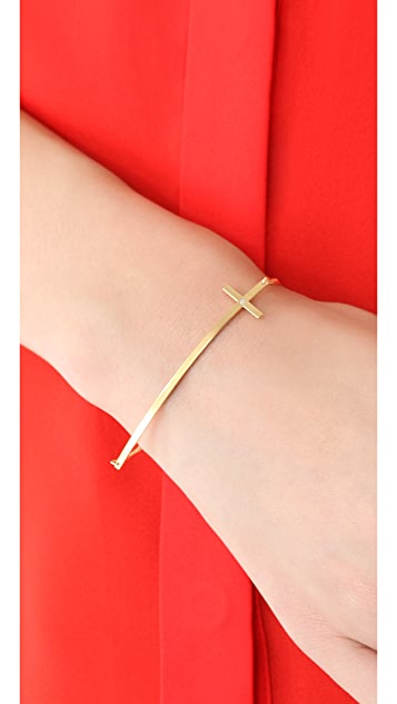 Jennifer Zeuner Jewelry Long Cross Bracelet