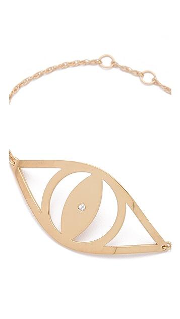 Jennifer Zeuner Jewelry Integrate Diamond Eye Bracelet
