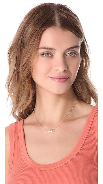 Jennifer Zeuner Jewelry Raquel Horizontal Eye Necklace