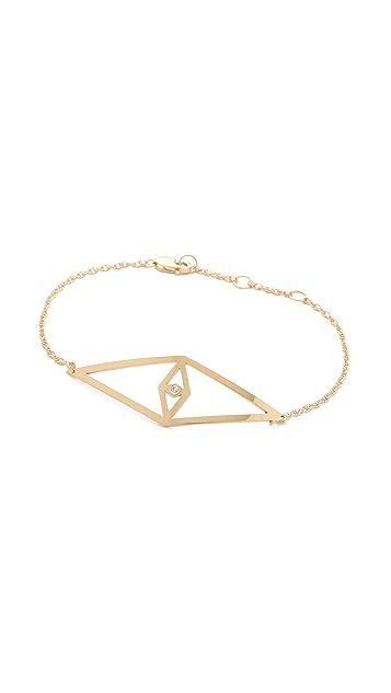 Jennifer Zeuner Jewelry Diamond Eye Bracelet