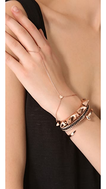 Jennifer Zeuner Jewelry Mini Mia Hand Chain