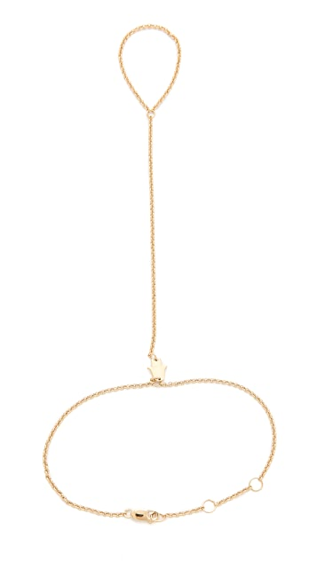 Jennifer Zeuner Jewelry Mini Faith Hand Chain