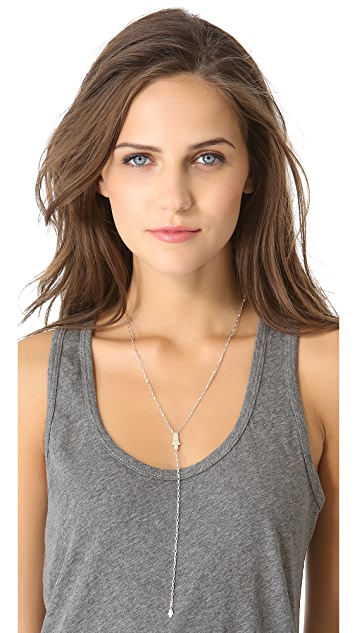 Jennifer Zeuner Jewelry Hamsa Lariat Diamond Necklace