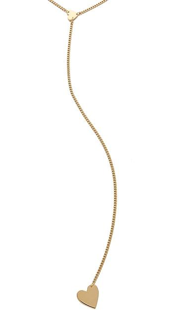 Jennifer Zeuner Jewelry Heart Lariat Necklace