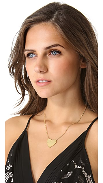 Jennifer Zeuner Jewelry Solid Heart Necklace