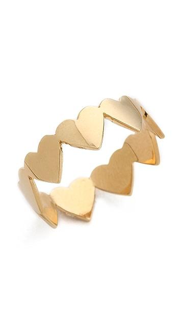 Jennifer Zeuner Jewelry Heart Eternity Band Ring