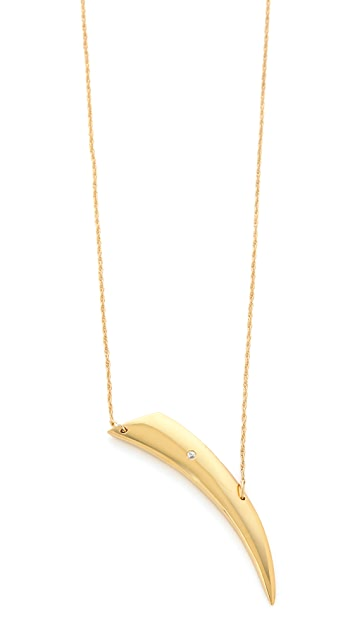 Jennifer Zeuner Jewelry Intergrated Horn Diamond Necklace