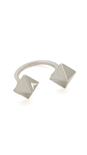 Jennifer Zeuner Jewelry Double Stud Wrap Ring
