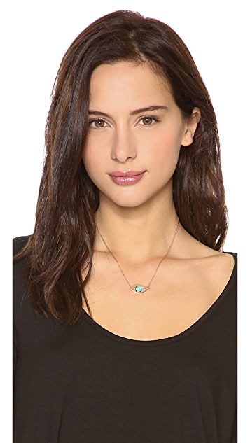 Jennifer Zeuner Jewelry Turquoise Eye Necklace