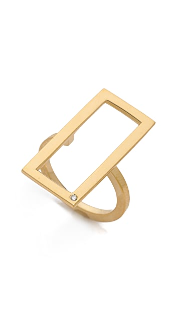 Jennifer Zeuner Jewelry Nala Rectangular Ring