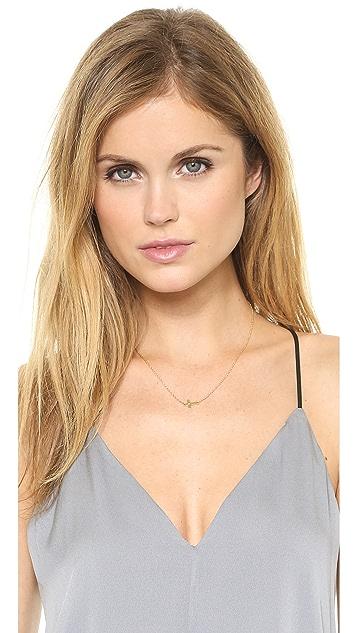 Jennifer Zeuner Jewelry Theresa Mini Diamond Cross Necklace