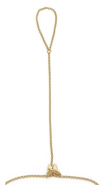 Jennifer Zeuner Jewelry Mini Butterfly Hand Chain