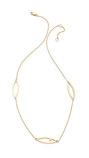 Jennifer Zeuner Jewelry Astrid Diamond Necklace