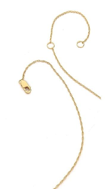 Jennifer Zeuner Jewelry Scarlet Diamond Heart Necklace