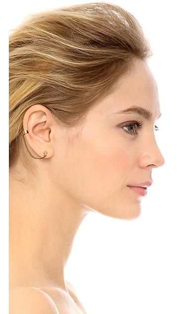 Jennifer Zeuner Jewelry Violet Hamsa Earring