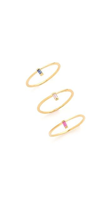 Jennifer Zeuner Jewelry Wren Colored Ring Set