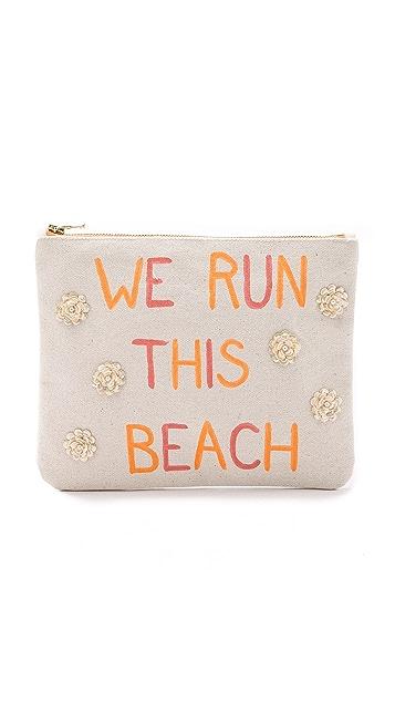 Zhuu We Run This Beach Pouch