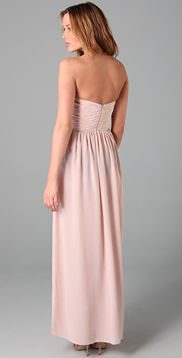 Zimmermann Ruched Bustier Long Dress