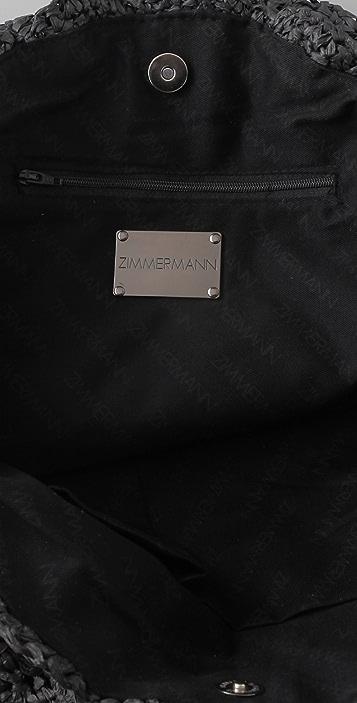 Zimmermann Circular Raffia Bag