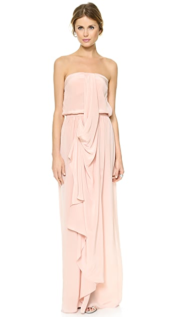 Zimmermann Strapless Draped Maxi Dress