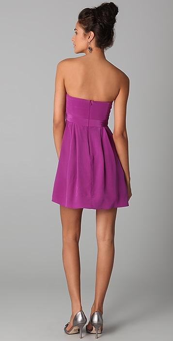 Zimmermann Strapless Tucked Dress
