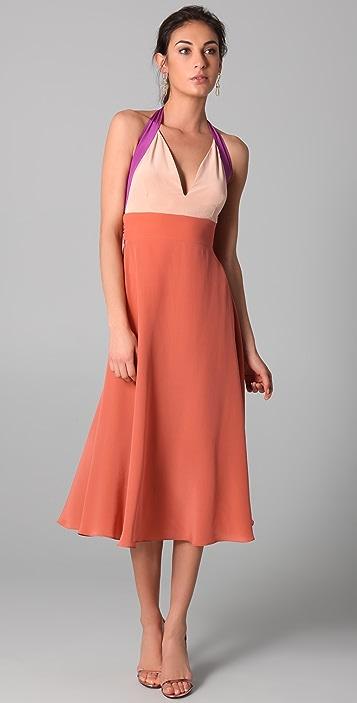 Zimmermann Contrast Halter Dress