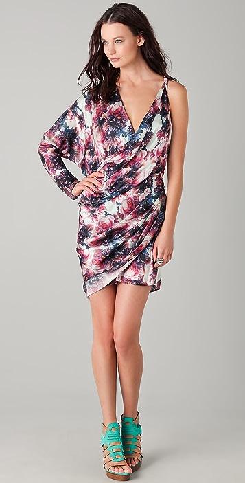 Zimmermann Speakeasy Burning Floral Wrap Dress