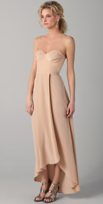 Zimmermann Strapless Underwire Long Dress