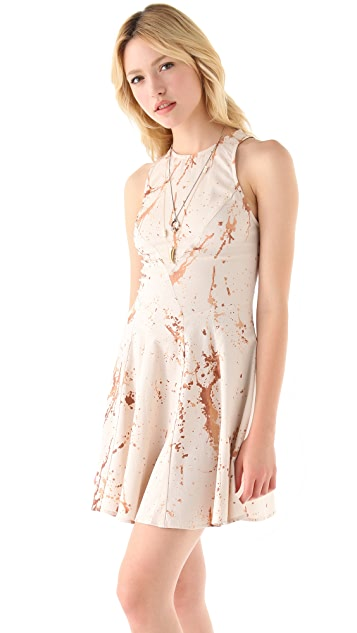 Zimmermann Spilt Coffee Mini Dress