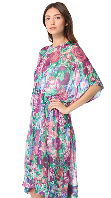 Zimmermann Tuck Floral Dress