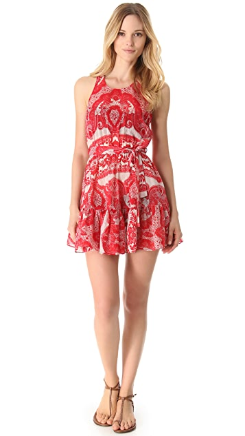 Zimmermann Collision Lace Frill Cover Up Dress