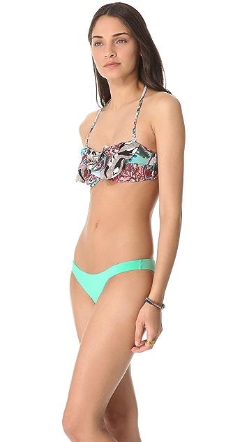Zimmermann Lacquer Mixed Frill Bikini