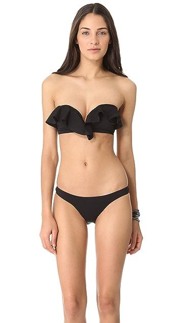 Zimmermann Lacquer Frill Bandeau Bikini