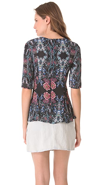 Zimmermann Rising Forest Peplum Top