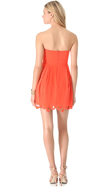 Zimmermann Scallop Strapless Dress