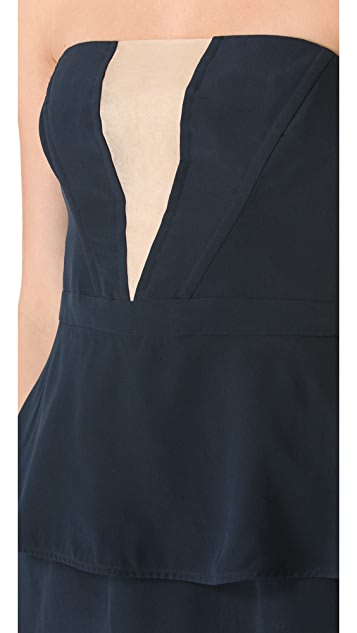 Zimmermann V Peplum Dress