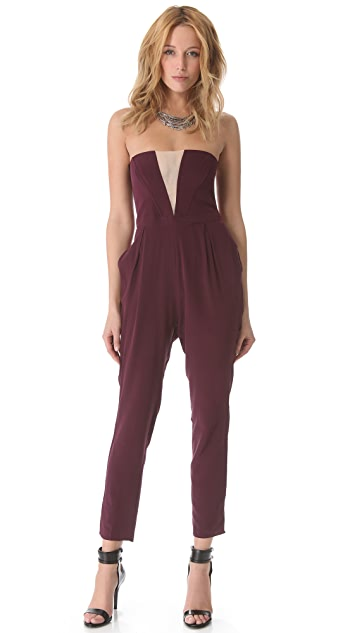 Zimmermann V Strapless Jumpsuit
