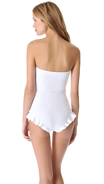 Zimmermann Celestial Bonded Frill One Piece Swimsuit