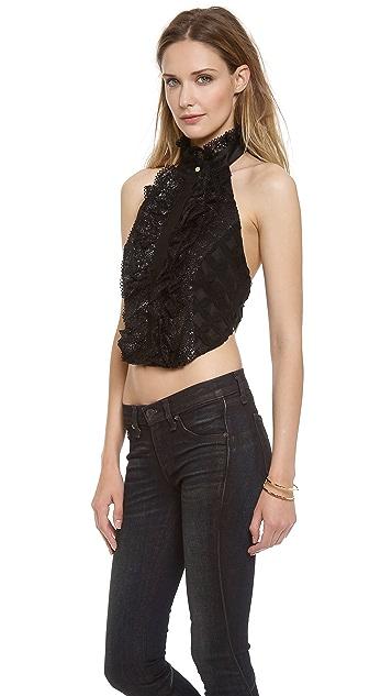 Zimmermann Lace Tuxedo Bib Top